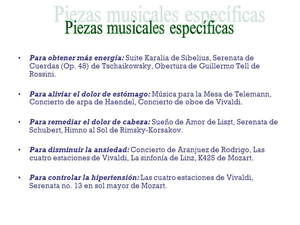 Piezas musicales específicas