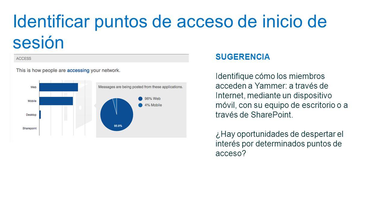 Identificar puntos de acceso de inicio de sesión