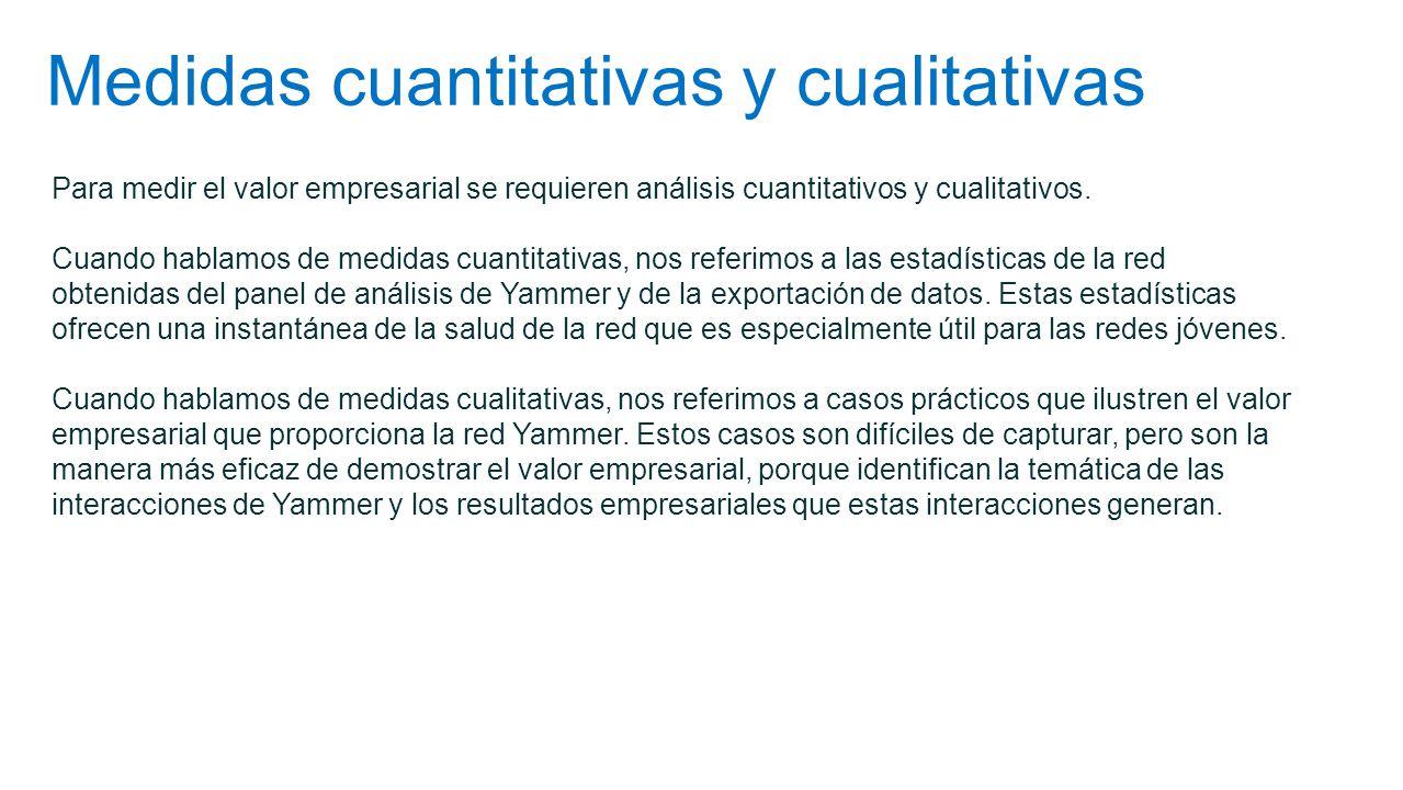 Medidas cuantitativas y cualitativas