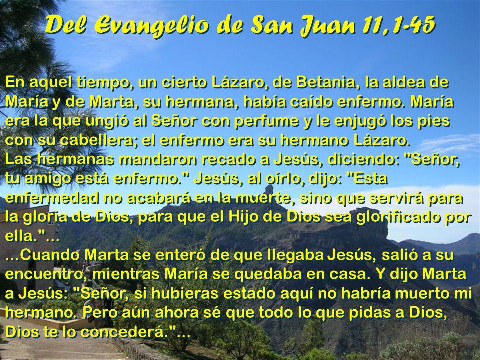 Del Evangelio de San Juan 11, 1-45