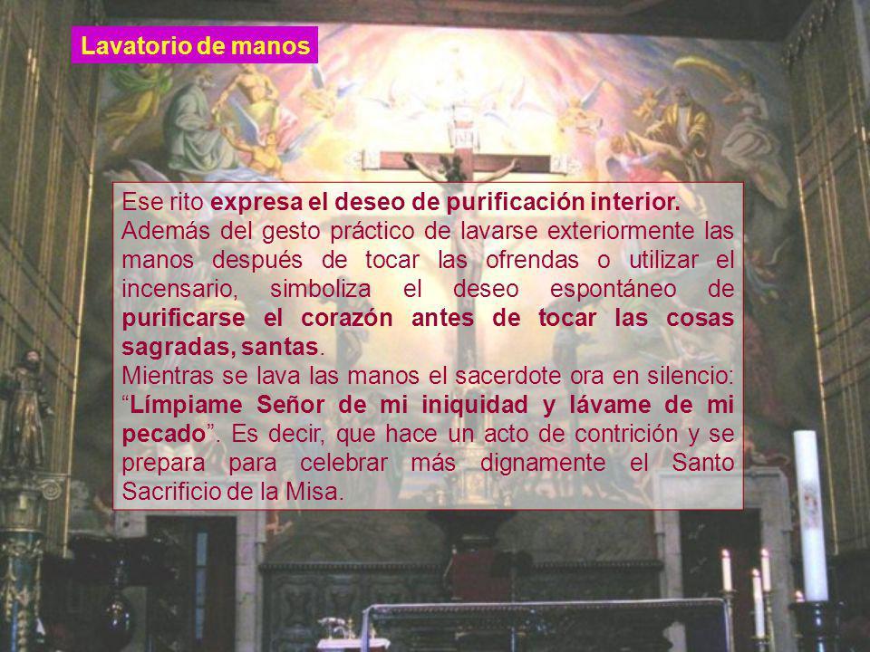 Ese rito expresa el deseo de purificación interior.