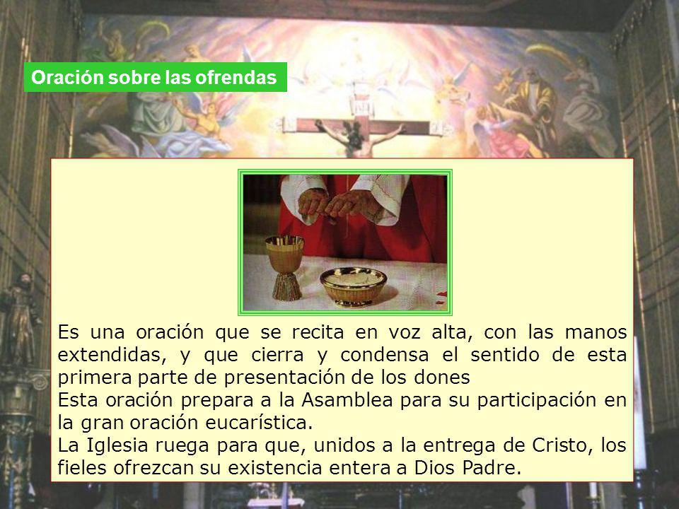 Oración sobre las ofrendas