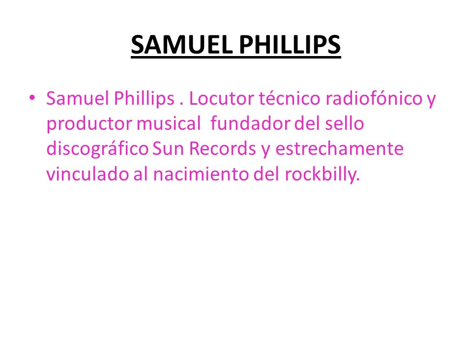 SAMUEL PHILLIPS
