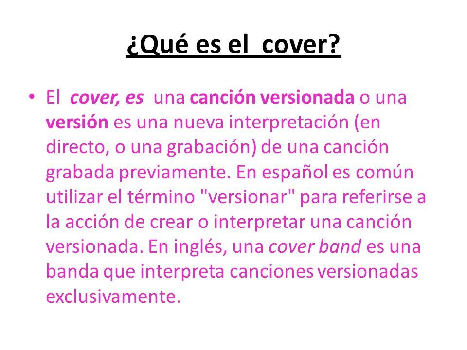 ¿Qué es el cover