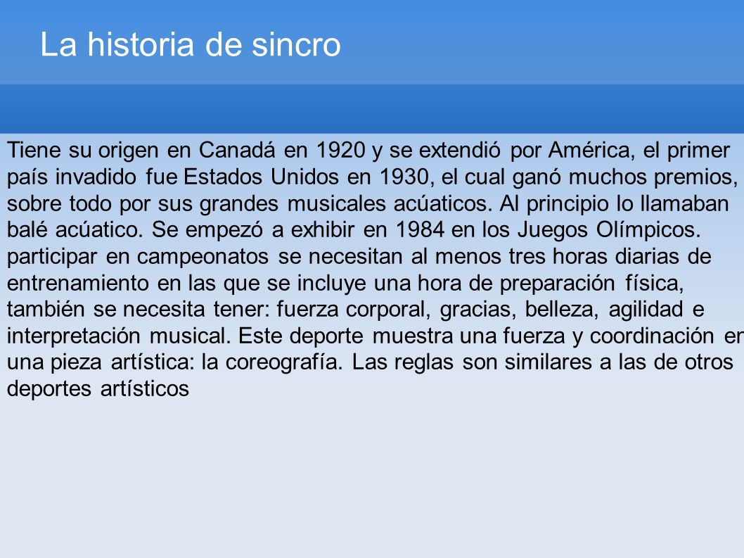 La historia de sincro