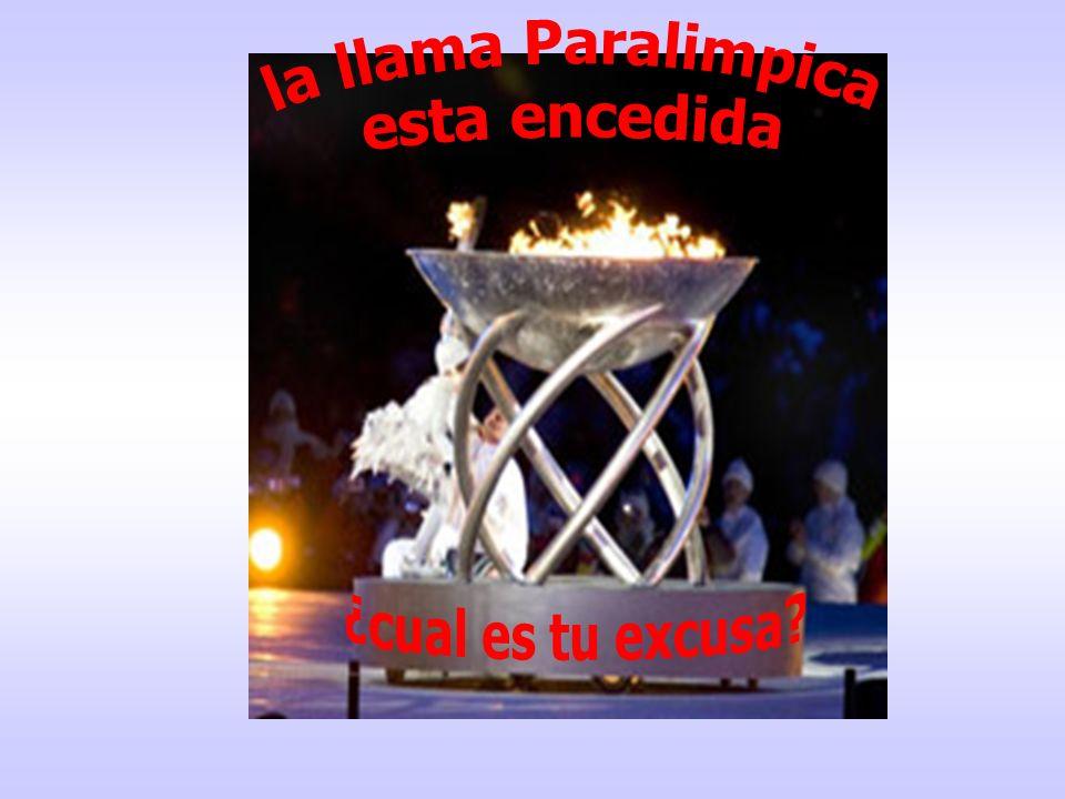la llama Paralimpica esta encedida