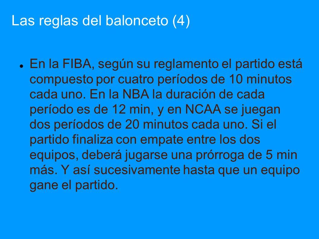 Las reglas del balonceto (4)