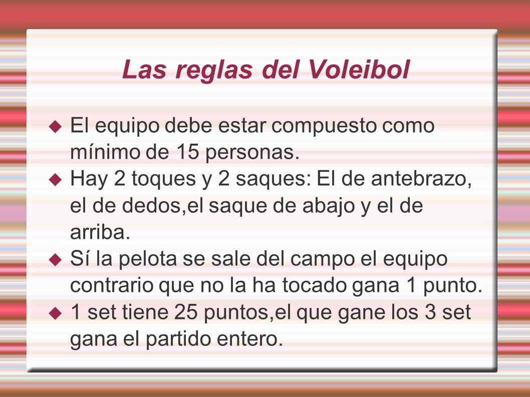 Las reglas del Voleibol