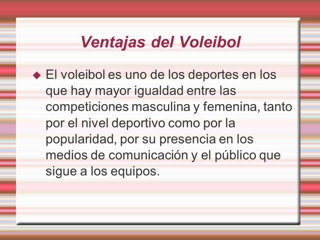 Ventajas del Voleibol