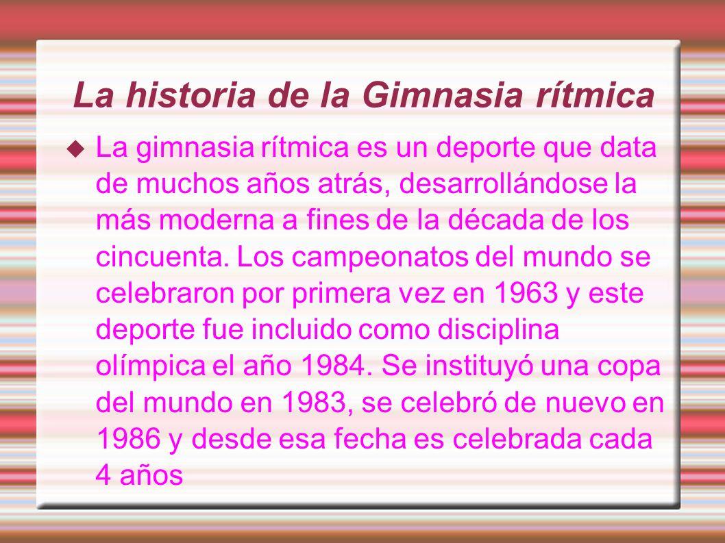 La historia de la Gimnasia rítmica