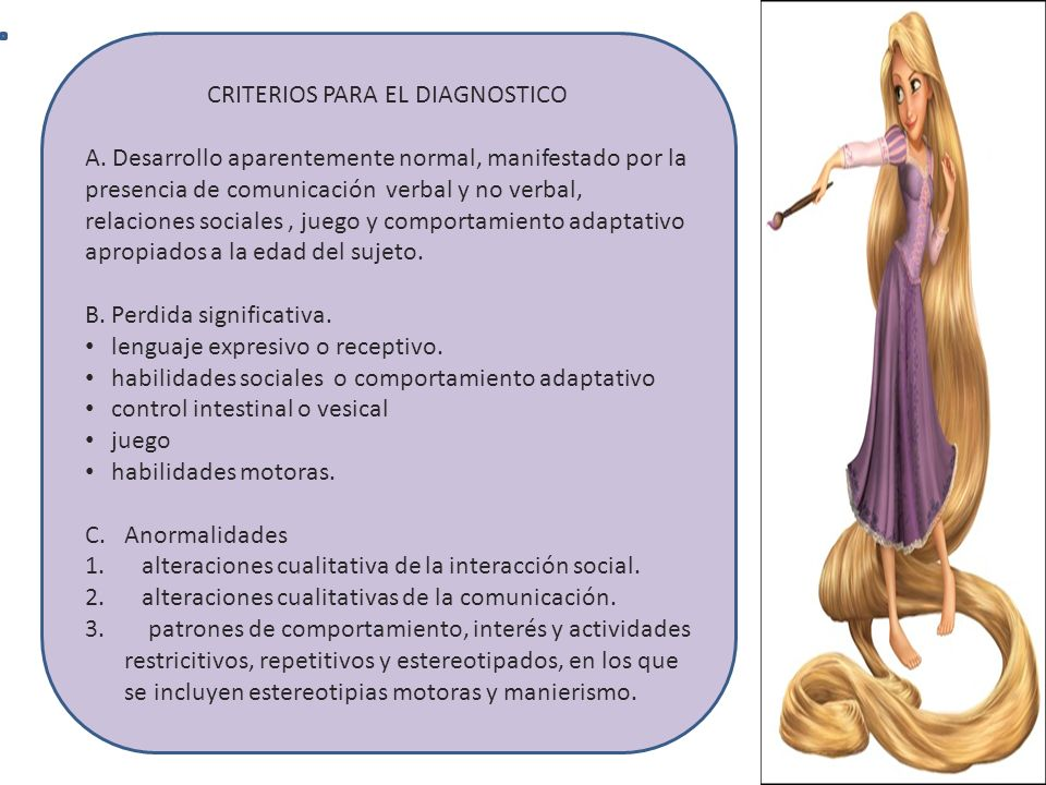 CRITERIOS PARA EL DIAGNOSTICO
