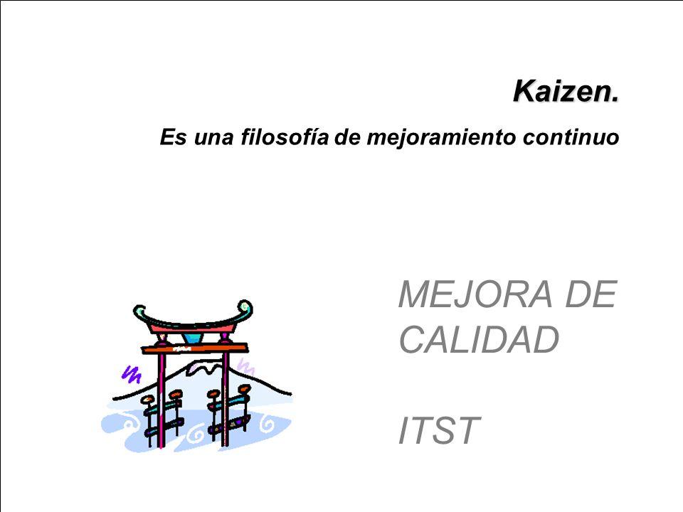 MEJORA DE CALIDAD ITST Kaizen.