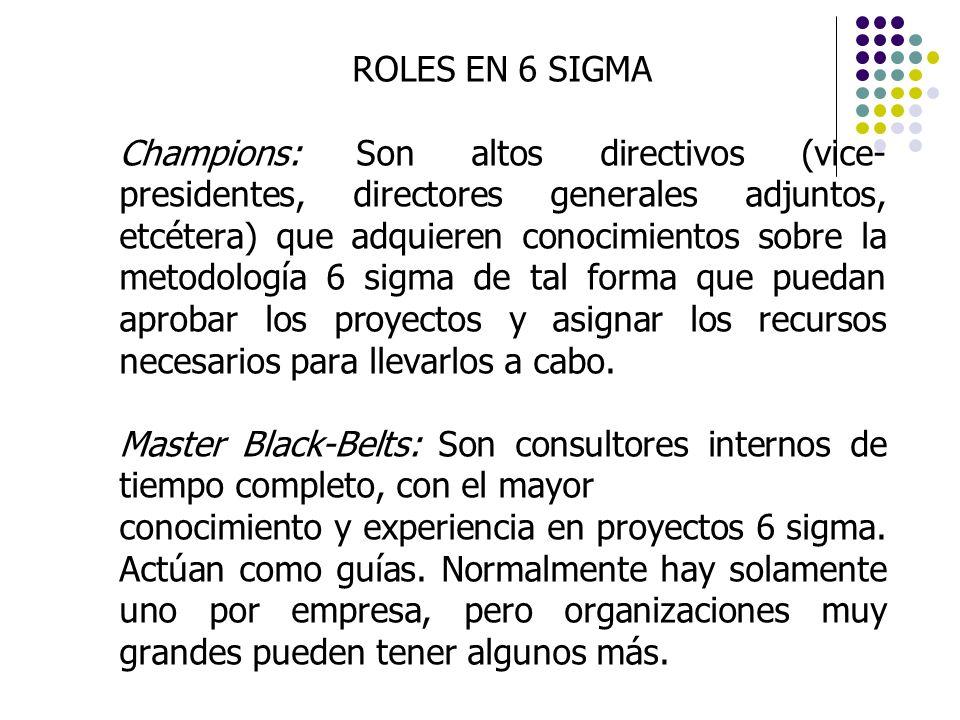 ROLES EN 6 SIGMA