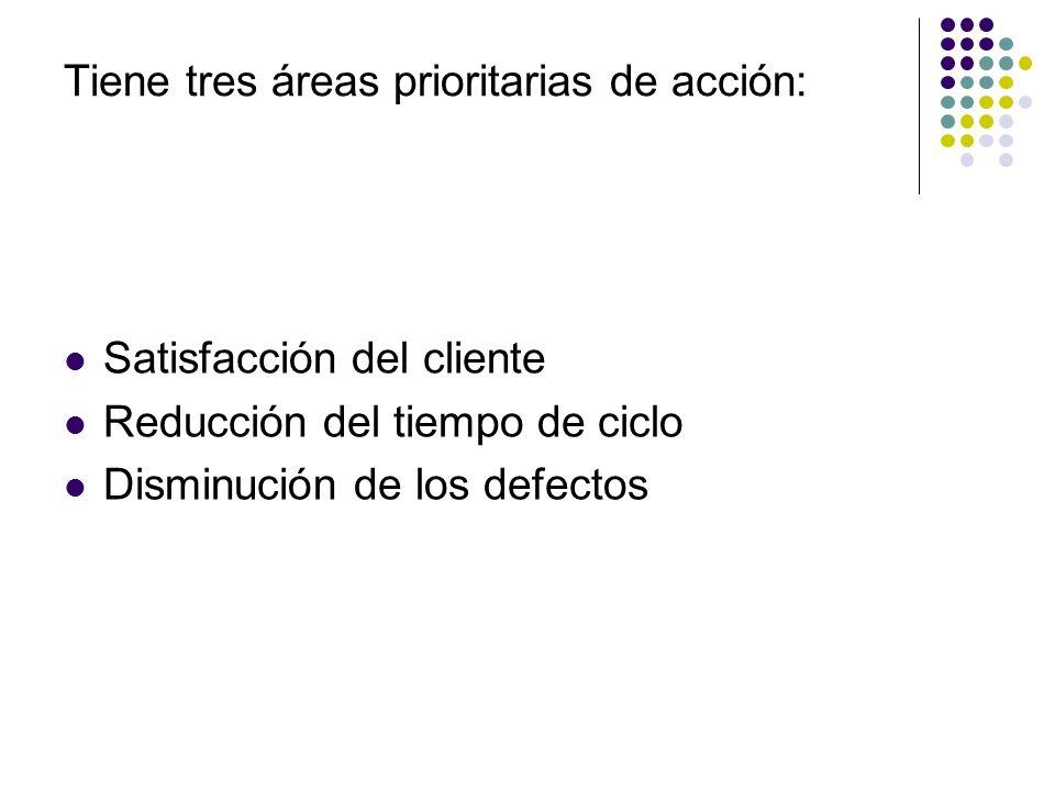 Tiene tres áreas prioritarias de acción: