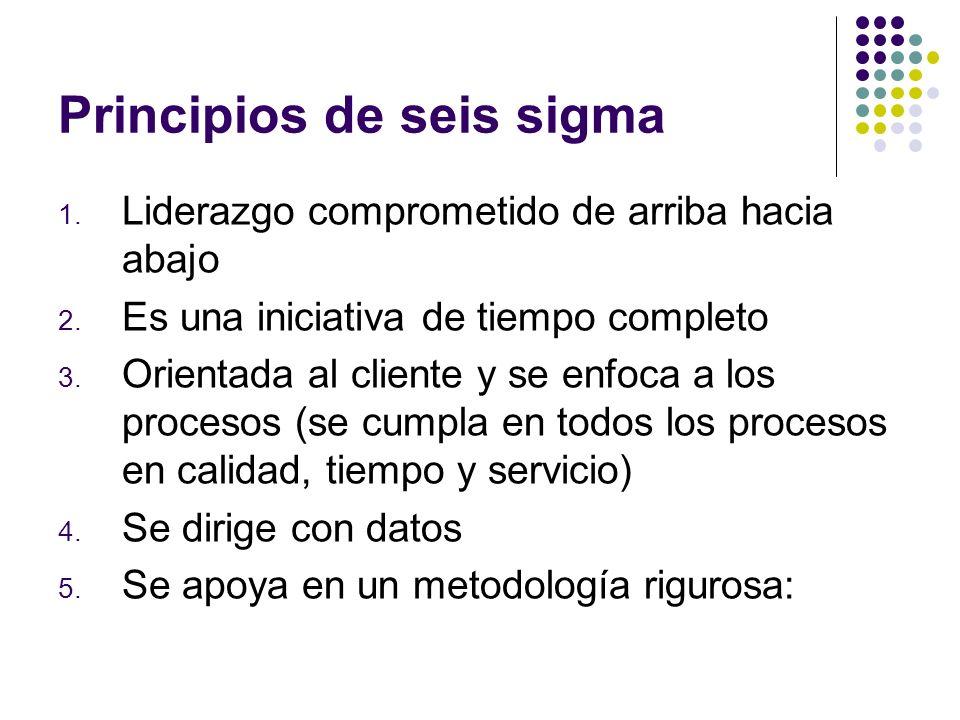 Principios de seis sigma