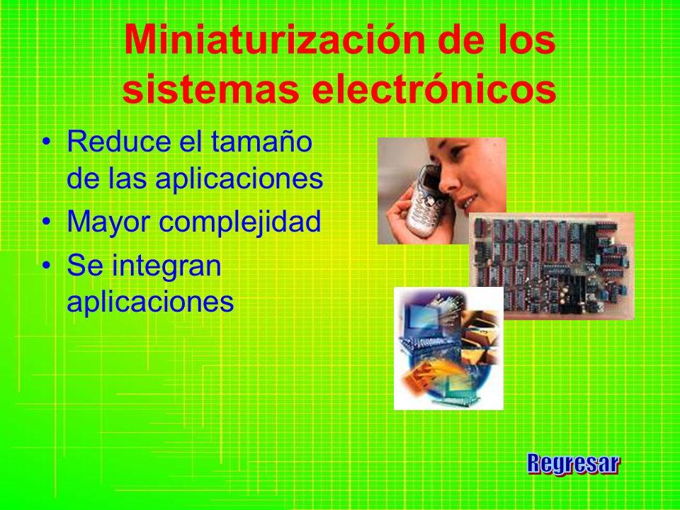 Miniaturización de los sistemas electrónicos