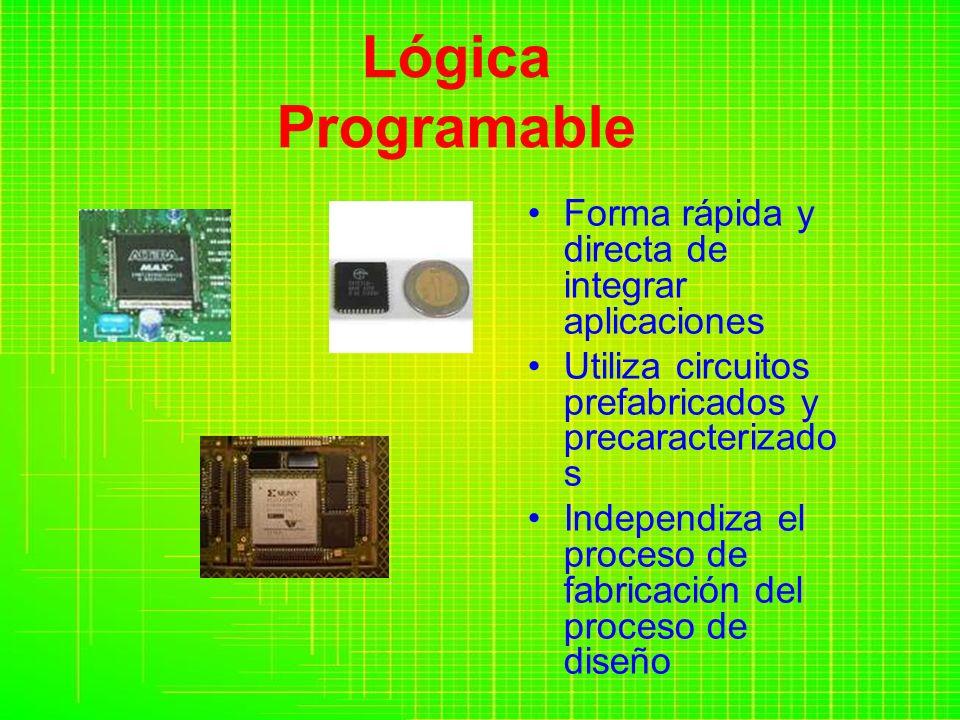 Lógica Programable Forma rápida y directa de integrar aplicaciones