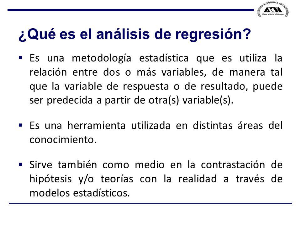 ¿Qué es el análisis de regresión