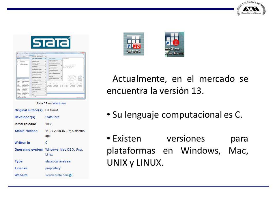 Actualmente, en el mercado se encuentra la versión 13.