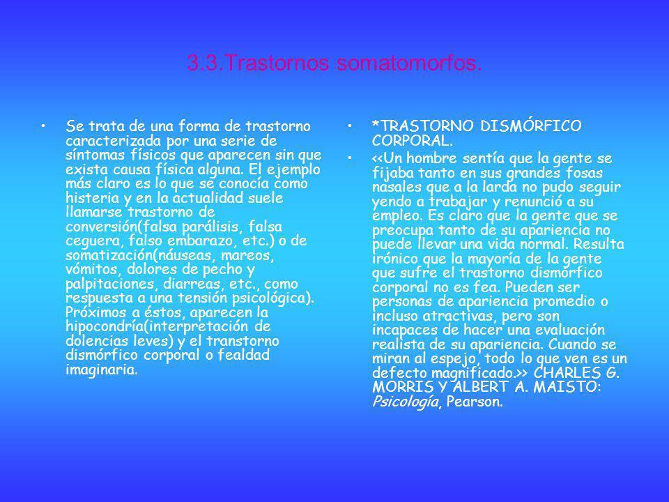 3.3.Trastornos somatomorfos.