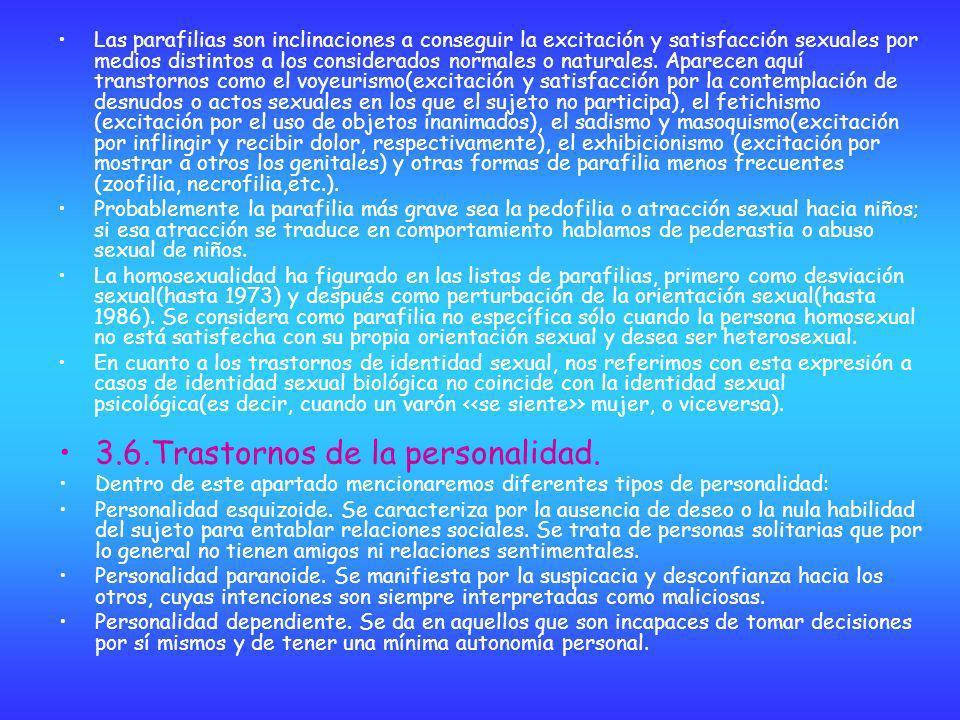 3.6.Trastornos de la personalidad.