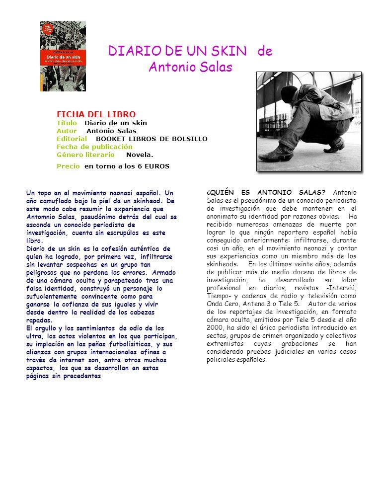 DIARIO DE UN SKIN de Antonio Salas