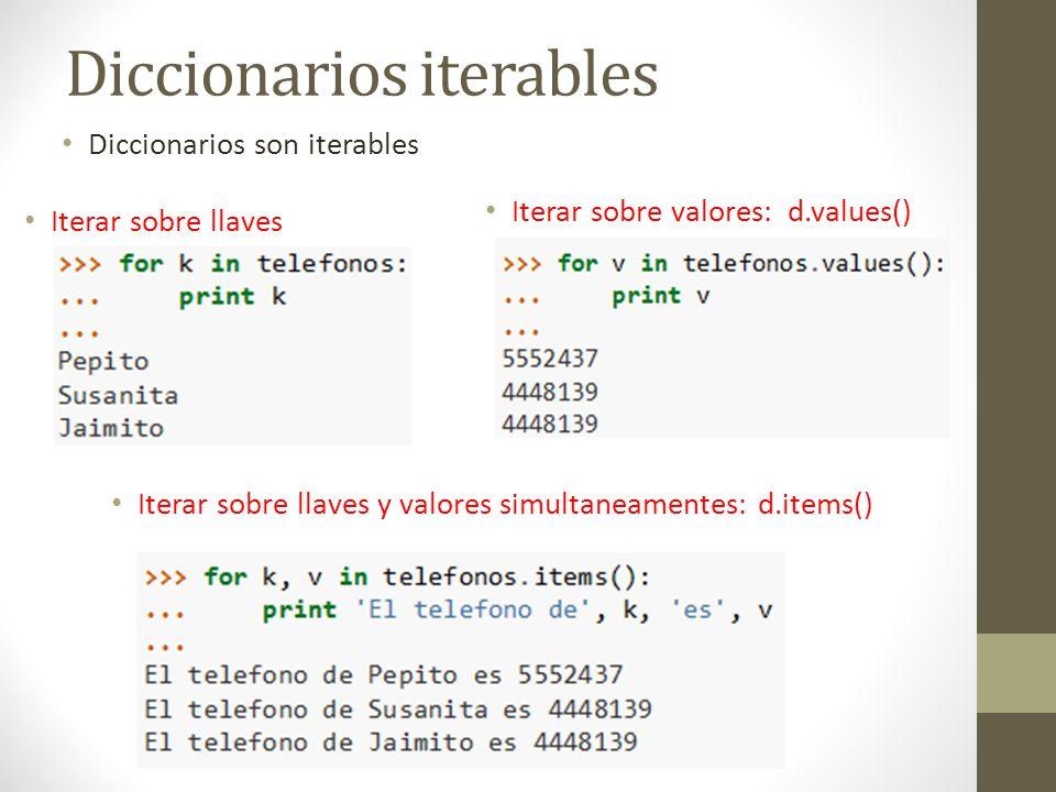 Diccionarios iterables