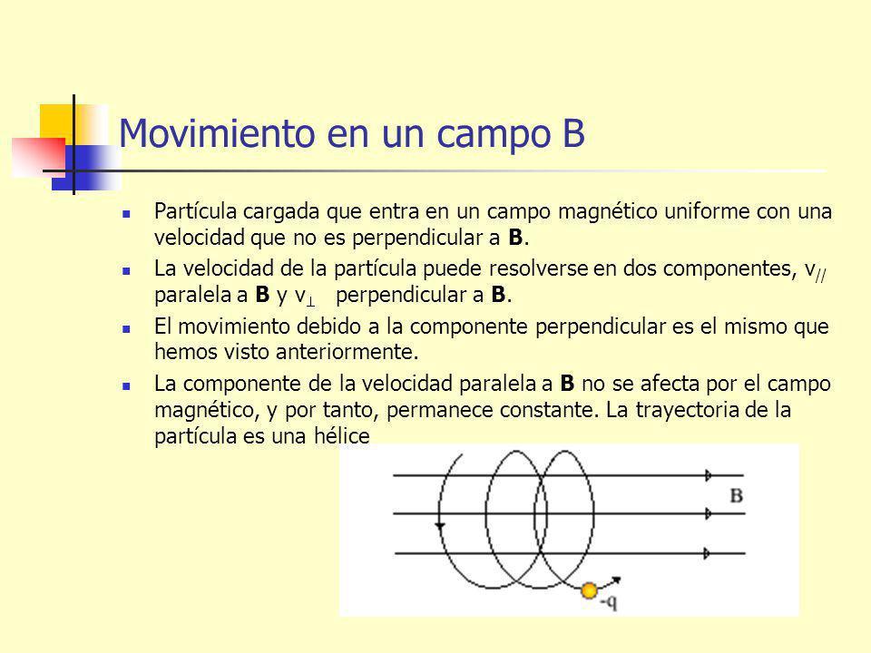 Movimiento en un campo B