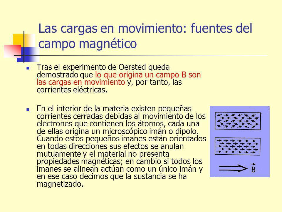 Las cargas en movimiento: fuentes del campo magnético
