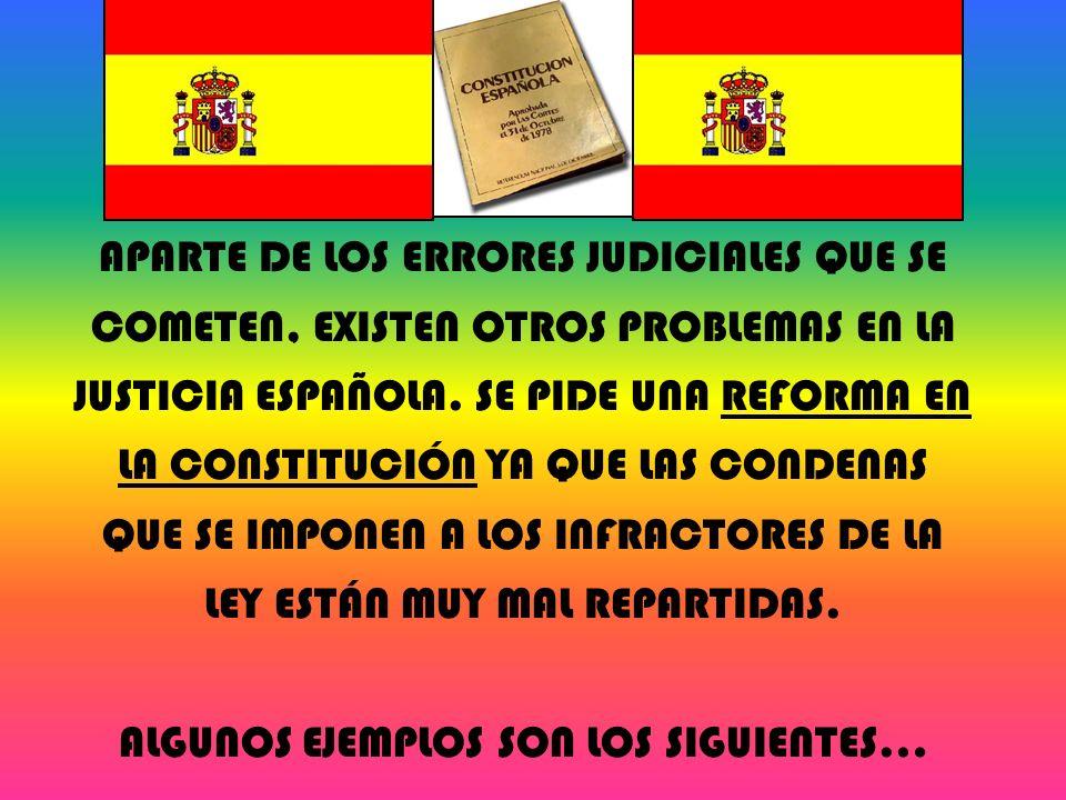 APARTE DE LOS ERRORES JUDICIALES QUE SE