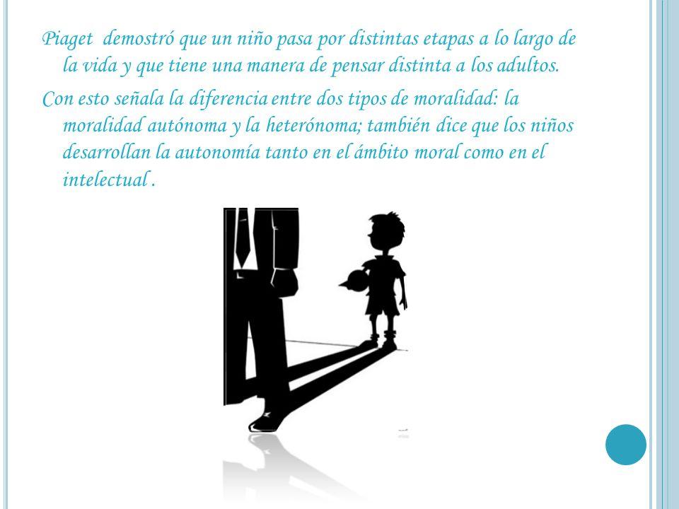 Piaget demostró que un niño pasa por distintas etapas a lo largo de la vida y que tiene una manera de pensar distinta a los adultos.