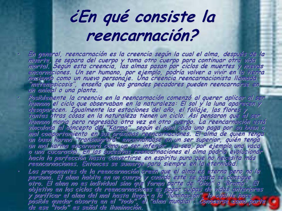 ¿En qué consiste la reencarnación