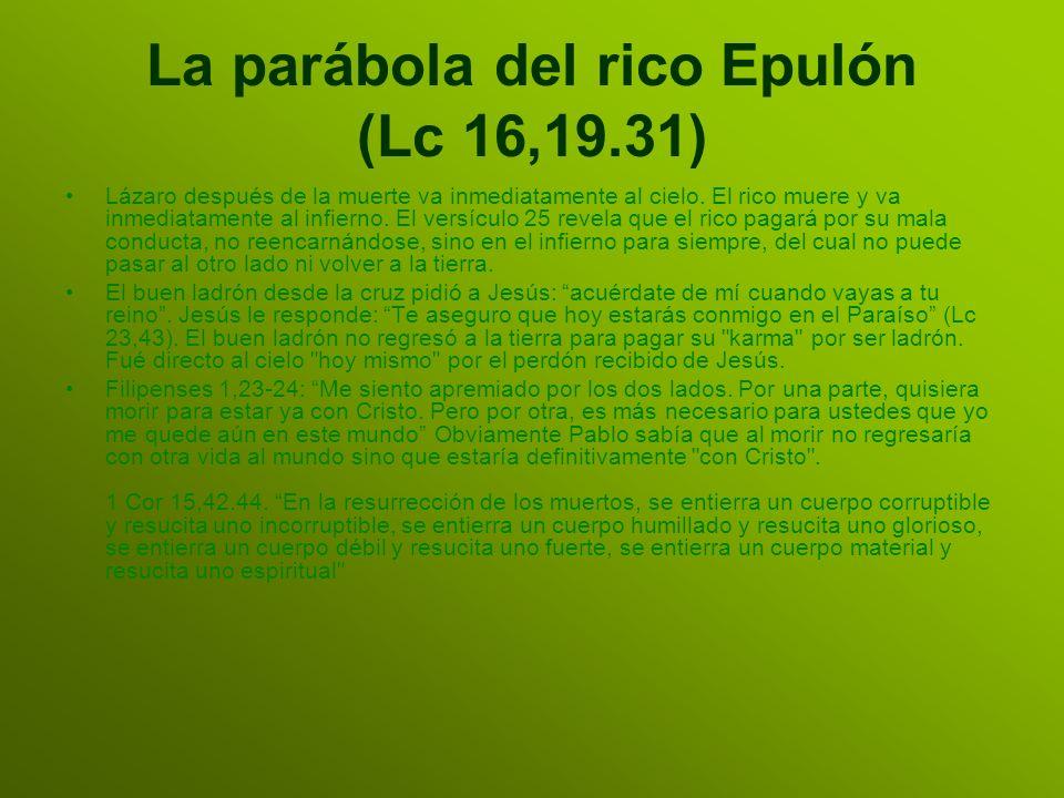 La parábola del rico Epulón (Lc 16,19.31)