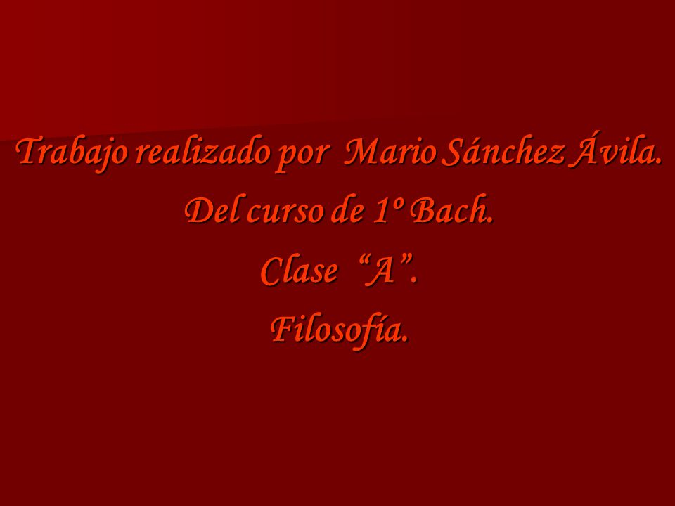 Trabajo realizado por Mario Sánchez Ávila.