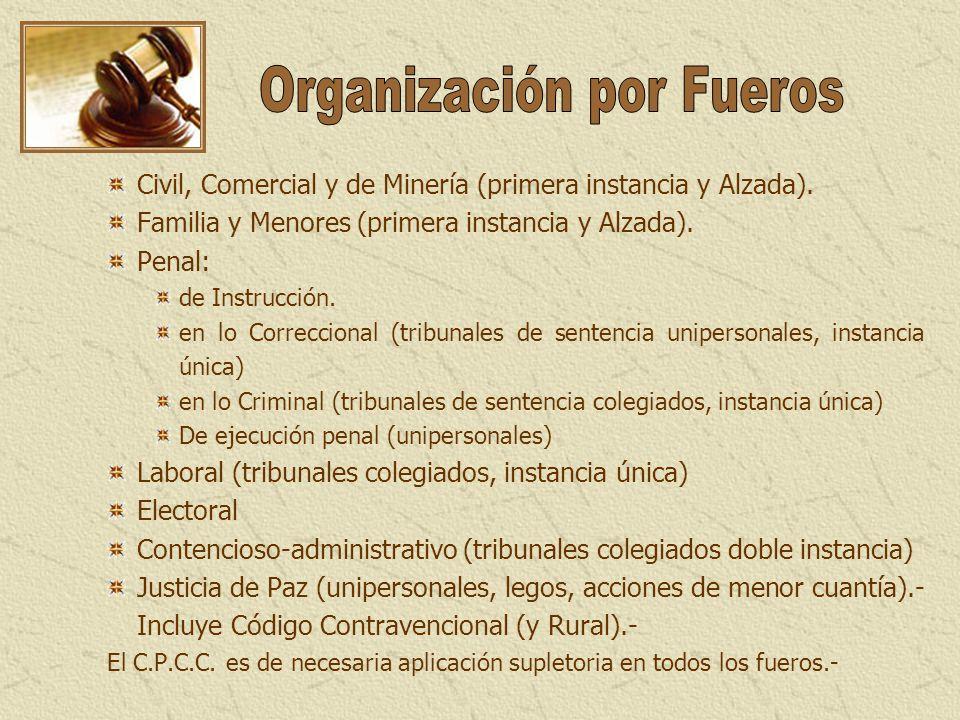 Organización por Fueros