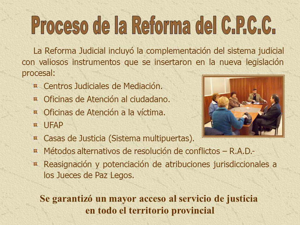 Proceso de la Reforma del C.P.C.C.