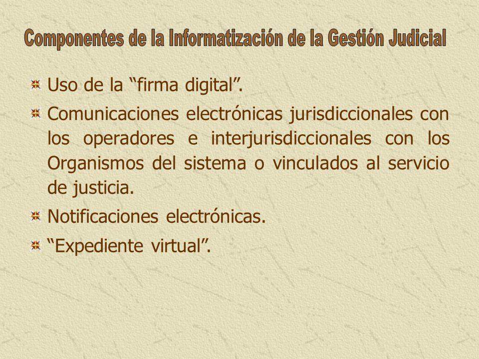 Componentes de la Informatización de la Gestión Judicial