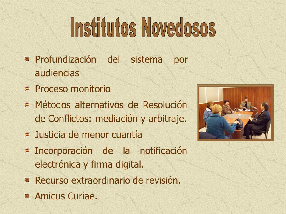 Institutos Novedosos Profundización del sistema por audiencias