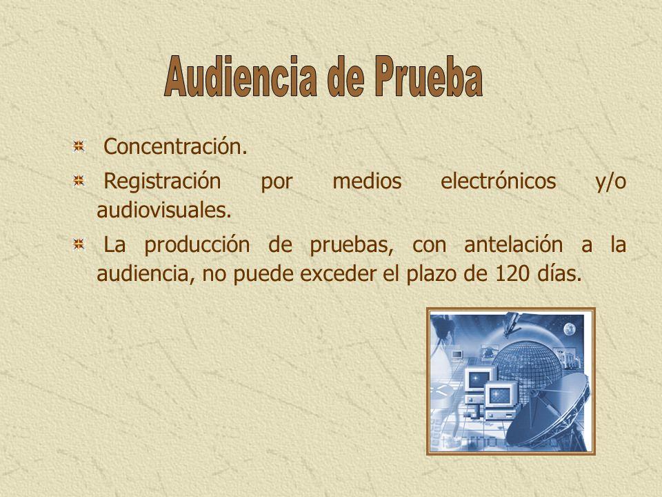 Audiencia de Prueba Concentración.