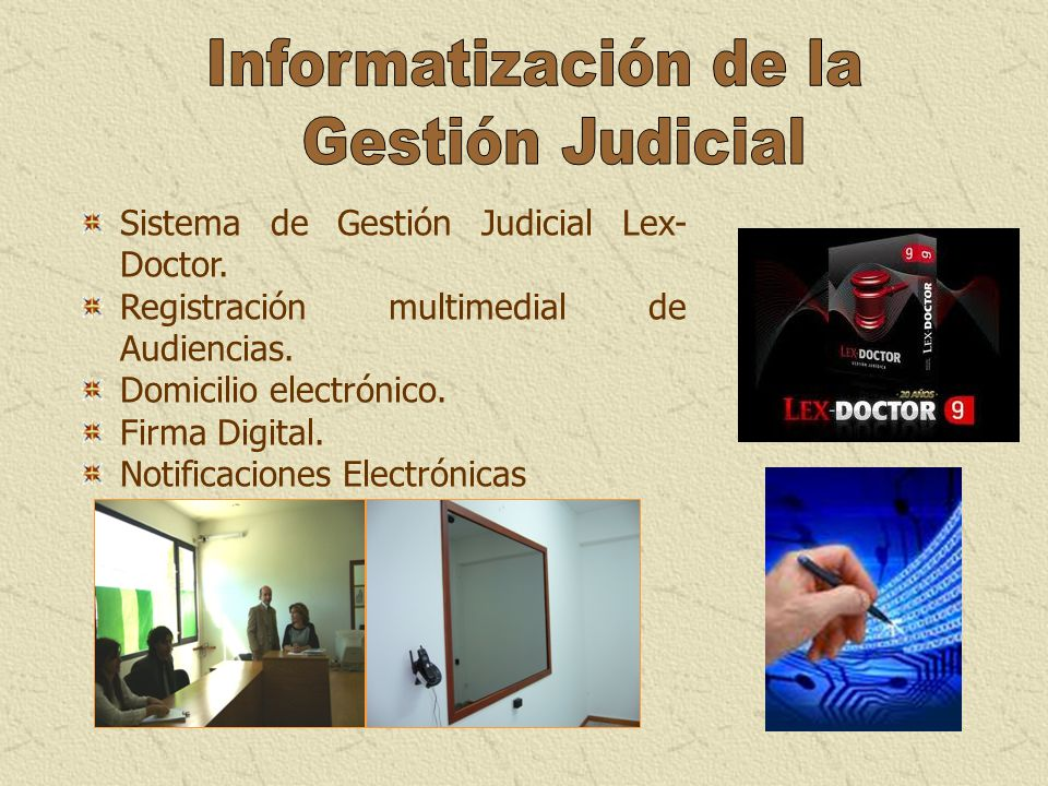 Informatización de la Gestión Judicial