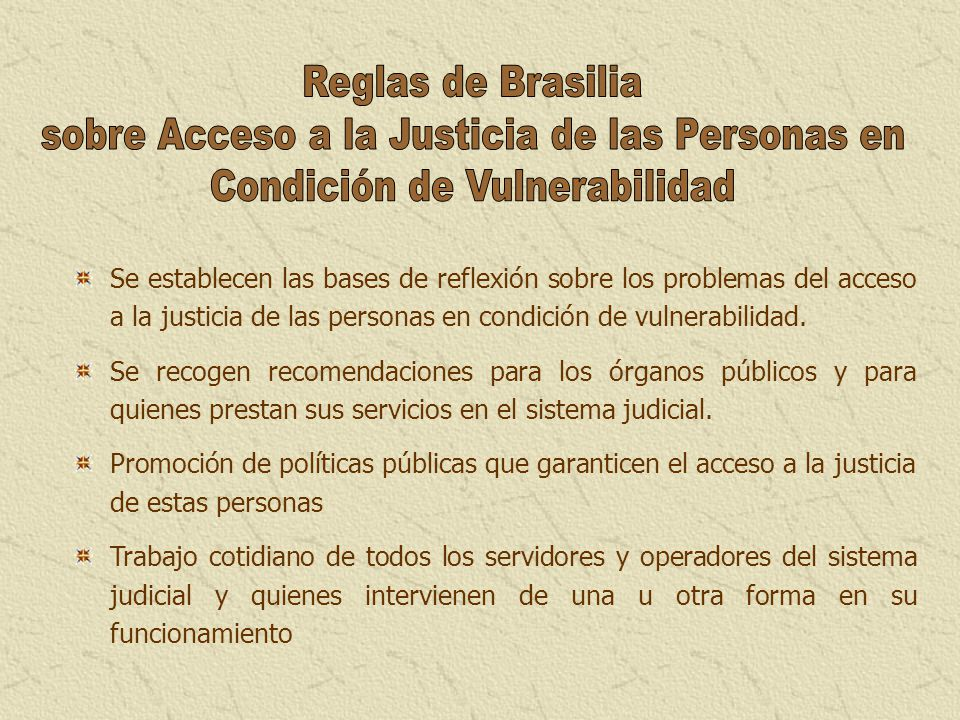 sobre Acceso a la Justicia de las Personas en