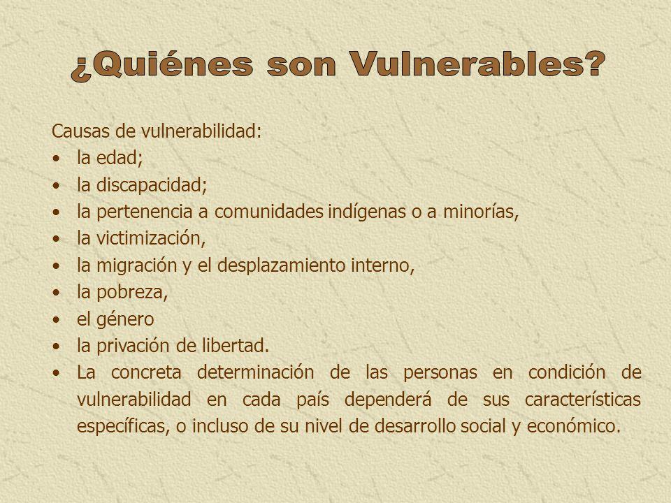 ¿Quiénes son Vulnerables