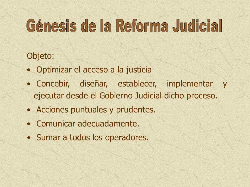 Génesis de la Reforma Judicial