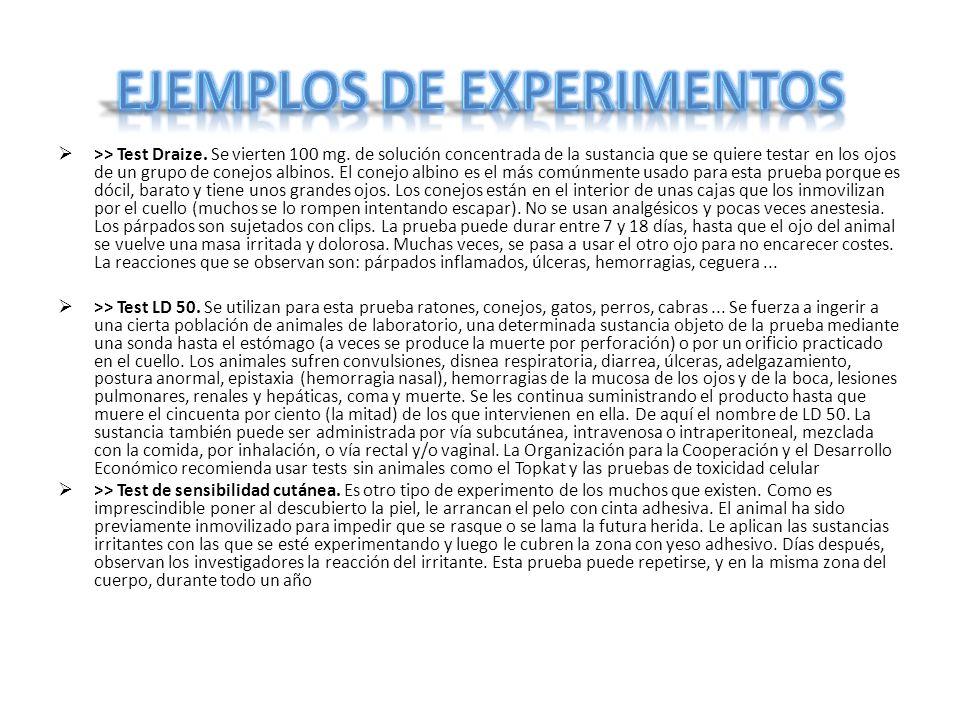 Ejemplos de experimentos