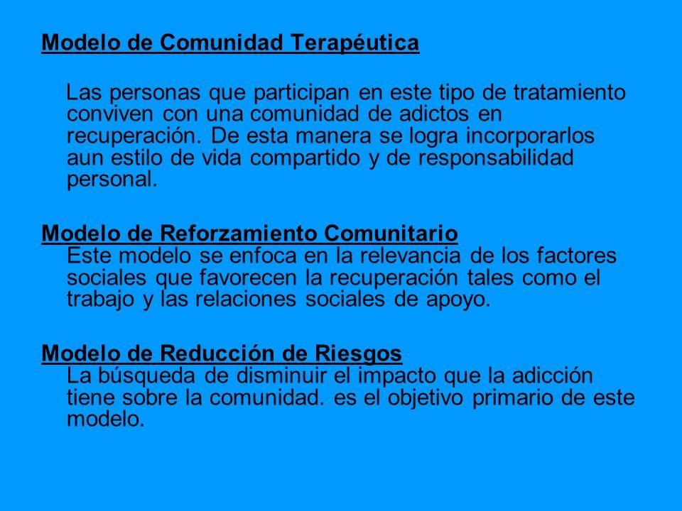 Modelo de Comunidad Terapéutica