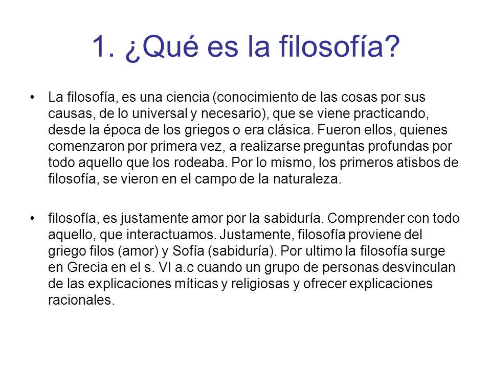 1. ¿Qué es la filosofía
