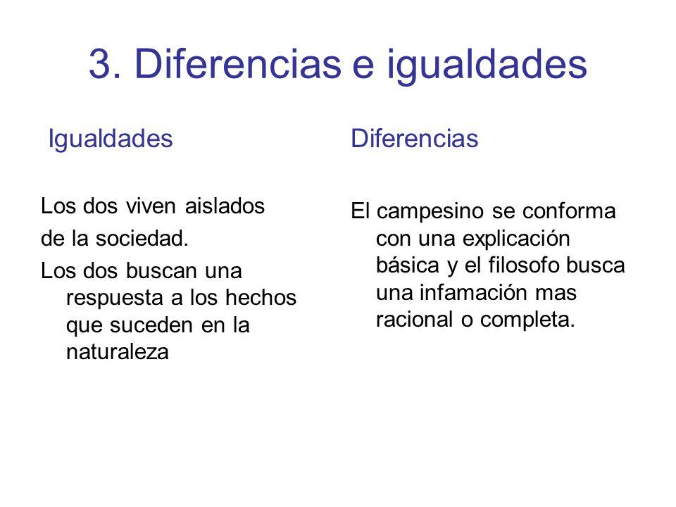 3. Diferencias e igualdades