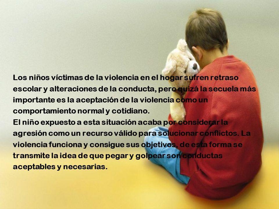 Los niños víctimas de la violencia en el hogar sufren retraso