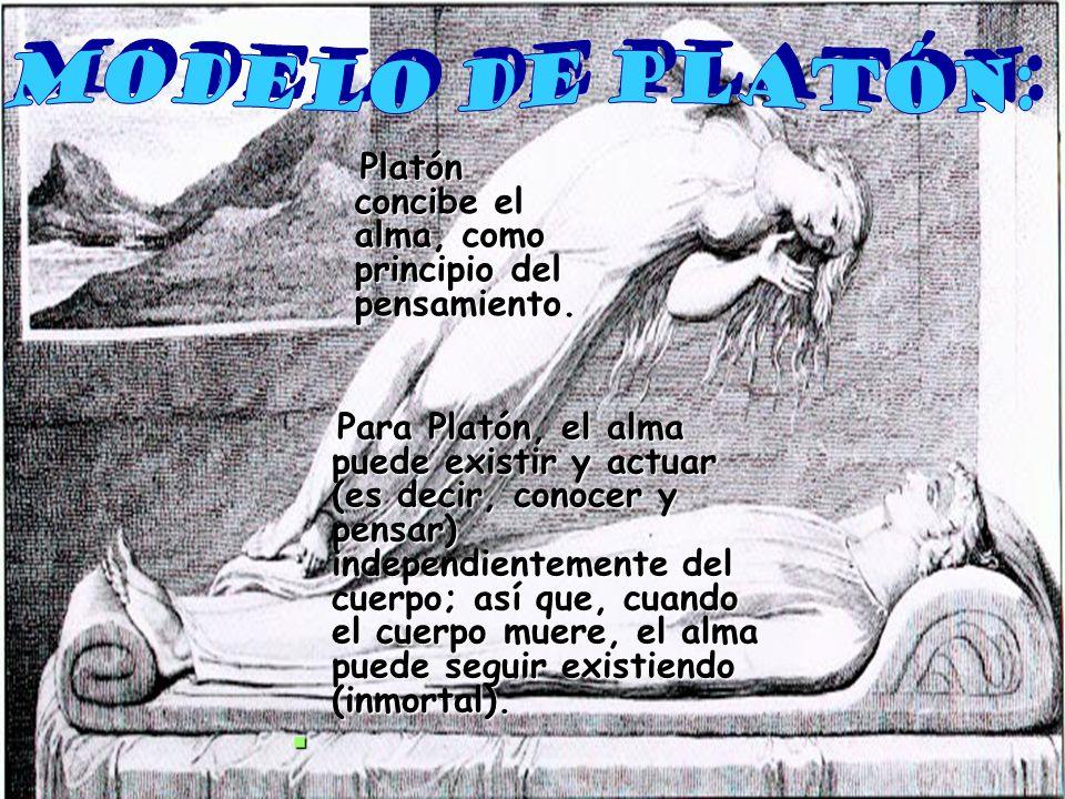 Modelo de Platón: Platón concibe el alma, como principio del pensamiento.