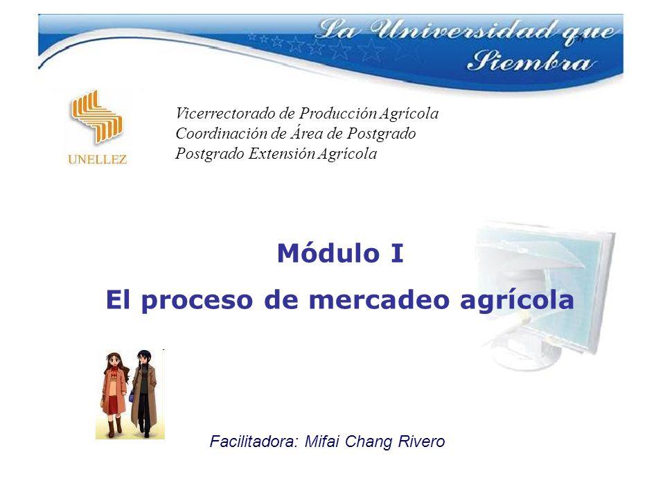 El proceso de mercadeo agrícola